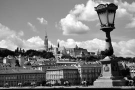 Budapest, Ungarn. B&W