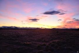 Sonnenuntergang auf Feuerland